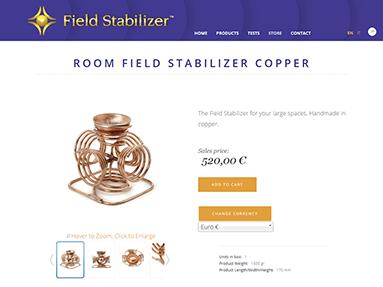 Κατασκευή eshop - fieldstabilizer.com